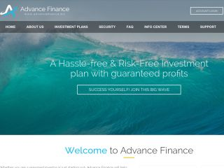 HYIP Investment Program:Advance Finance