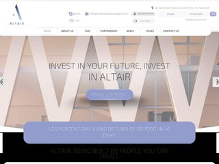 HYIP Investment Program:Altair