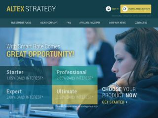 HYIP Investment Program:Altex Strategy