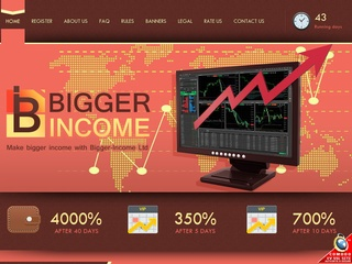 HYIP Investment Program:Bigger-Income