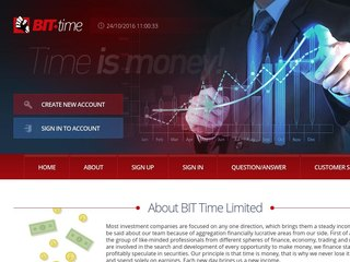 HYIP Investment Program:Bit-Time