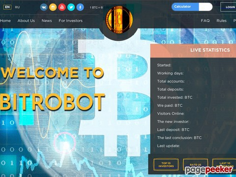 HYIP Investment Program:Bitrobot.me