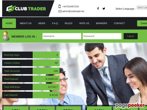 HYIP Investment Program:ClubTrader LTD
