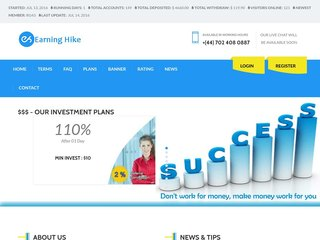HYIP Investment Program:Earning Hike