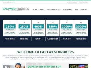 HYIP Investment Program:EastWestBrokers