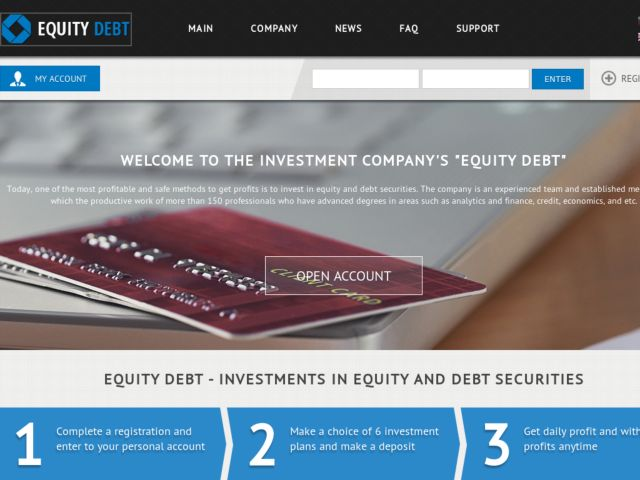 HYIP Investment Program:Equity-Debt