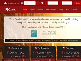 HYIP Investment Program:Forex Coral Limited