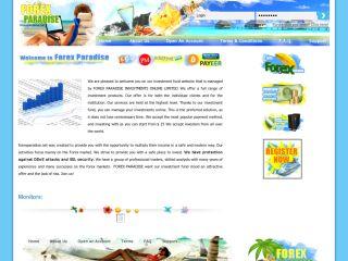 Forex paradise login