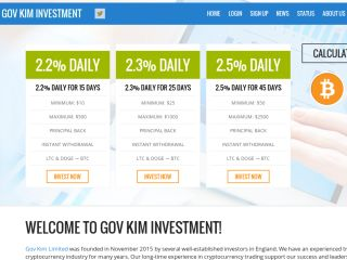 HYIP Investment Program:GOV KIM Investment