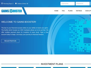 HYIP Investment Program:GainsBooster