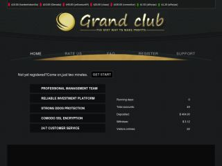 HYIP Investment Program:Grand Club