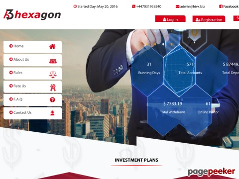 HYIP Investment Program:Hexagon3 Limited