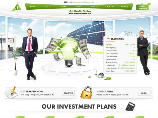 HYIP Investment Program:Hot Profit Online