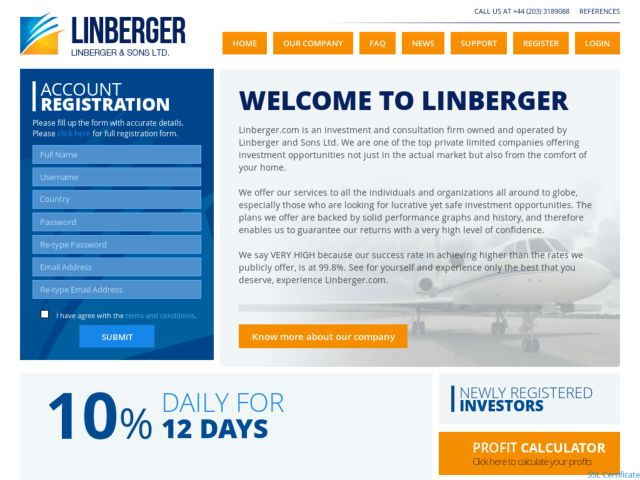 HYIP Investment Program:Linberger