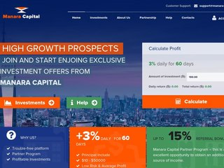 HYIP Investment Program:Manara-Capital