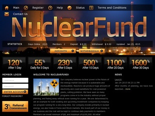 HYIP Investment Program:NuclearFund