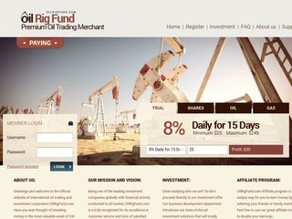 HYIP Investment Program:OilRigFund