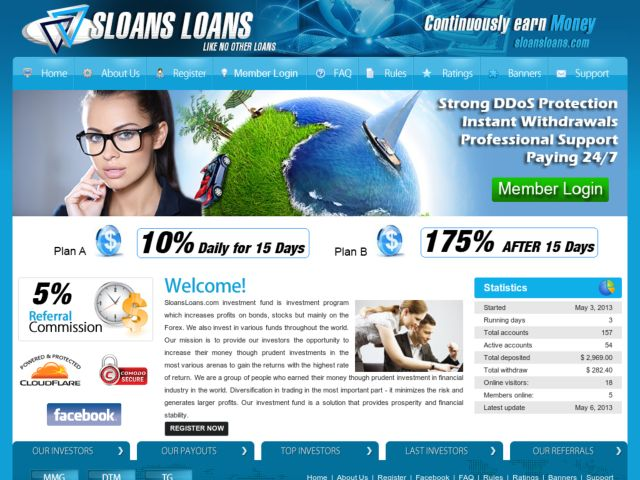 HYIP Investment Program:Sloans Loans