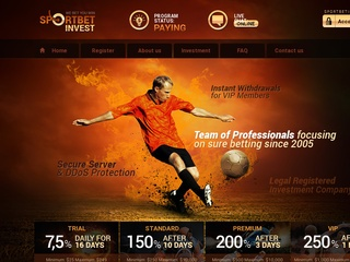 HYIP Investment Program:SportBetInvest